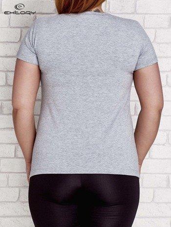 Szary t-shirt damski PLUS SIZE