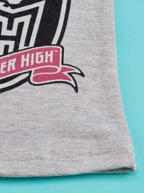 Szary t-shirt dla dziewczynki MONSTER HIGH                                  zdj.                                  4