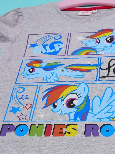 Szary t-shirt dla dziewczynki MY LITTLE PONY                                  zdj.                                  3
