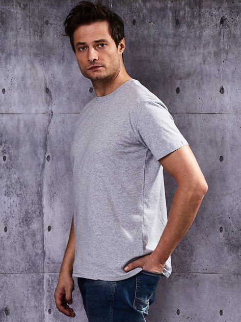 Szary t-shirt męski                               zdj.                              3