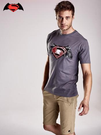 Szary t-shirt męski BATMAN V SUPERMAN                                  zdj.                                  2