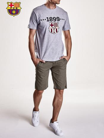 Szary t-shirt męski FC BARCELONA                                   zdj.                                  9