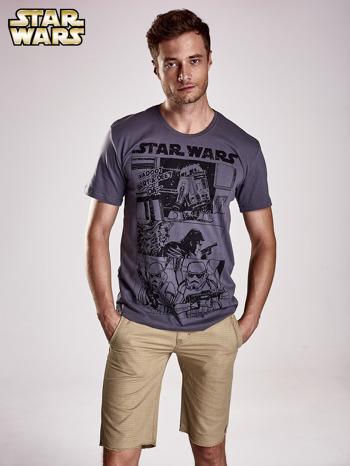 Szary t-shirt męski STAR WARS