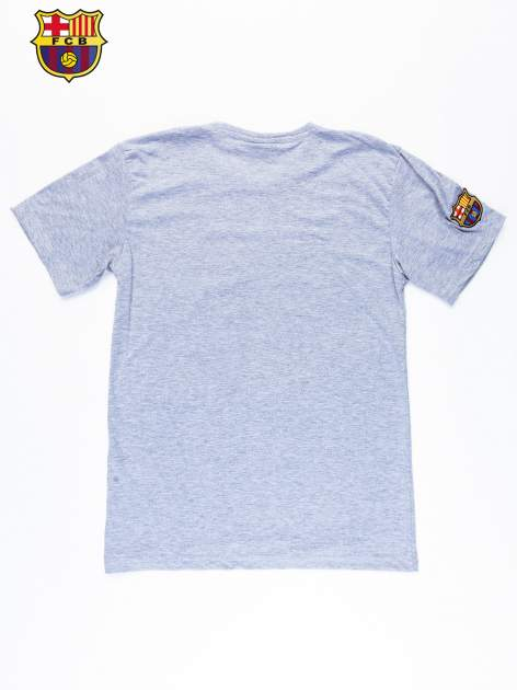 Szary t-shirt męski z motywem FC BARCELONA                                  zdj.                                  11