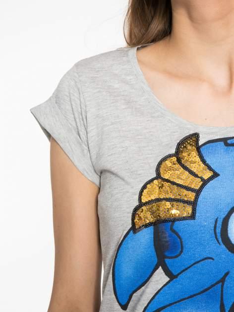 Szary t-shirt z nadrukiem Stich                                  zdj.                                  5