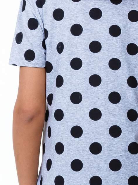 Szary t-shirt z nadrukiem ust                                   zdj.                                  6