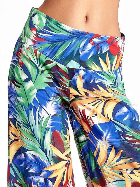Szerokie spodnie culottes z egzotycznym nadrukiem                                  zdj.                                  5