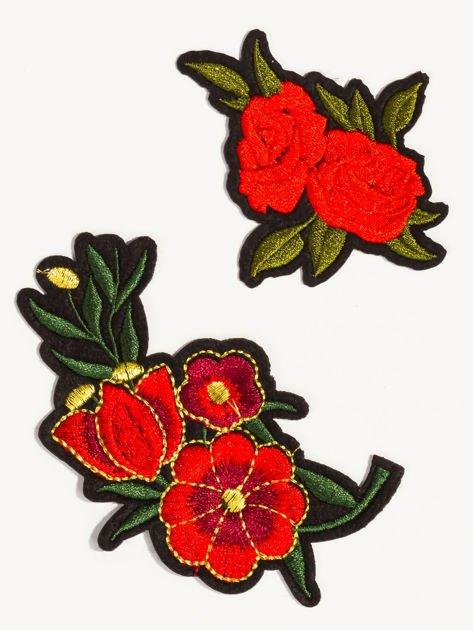 T-shirt damski turkusowy z naszywkami                              zdj.                              2