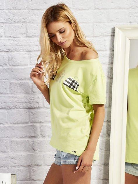 T-shirt z motywem torebek limonowy                                  zdj.                                  2