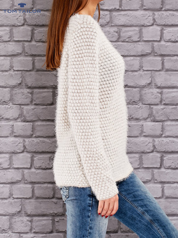 TOM TAILOR Beżowy sweter long hair                                  zdj.                                  2