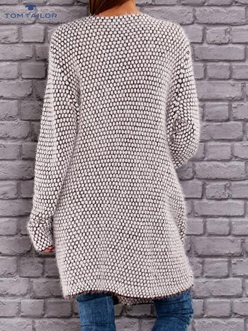 TOM TAILOR Bordowy wełniany puszysty sweter