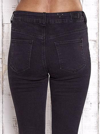 TOM TAILOR Czarne spodnie jeansowe cut out                                  zdj.                                  6