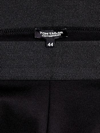 TOM TAILOR Czarne spodnie z przeszyciami i suwakami                                  zdj.                                  3