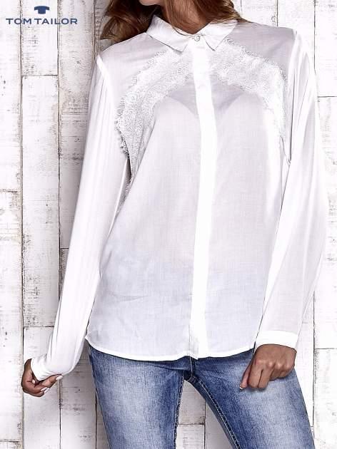 TOM TAILOR Ecru koszula z koronkową wstawką                                  zdj.                                  1