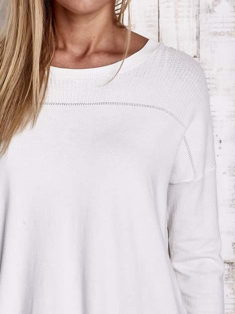 TOM TAILOR Ecru warstwowy sweter                                   zdj.                                  5