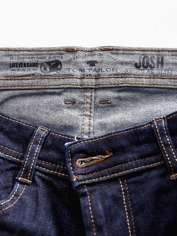 TOM TAILOR Granatowe spodnie jeansowe męskie ze stretchem                                  zdj.                                  4