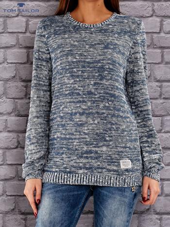 TOM TAILOR Niebieski melanżowy sweter                               zdj.                              1