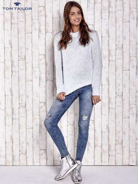 TOM TAILOR Niebieski sweter z dodatkiem wełny z alpaki                                  zdj.                                  2