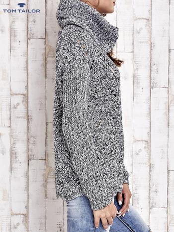 TOM TAILOR Szary melanżowy sweter z golfem                                  zdj.                                  6
