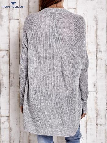 TOM TAILOR Szary wełniany sweter oversize                                  zdj.                                  4