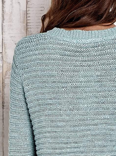 TOM TAILOR Zielony włóczkowy sweter                                  zdj.                                  8