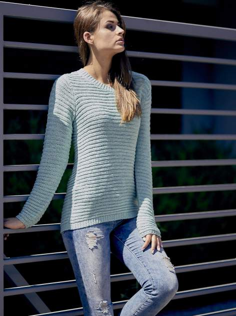 TOM TAILOR Zielony włóczkowy sweter                                  zdj.                                  10