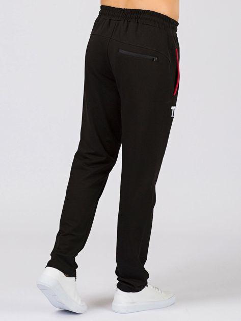 TOMMY LIFE Czarne długie spodnie męskie                              zdj.                              3