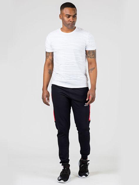 TOMMY LIFE Czarne spodnie męskie