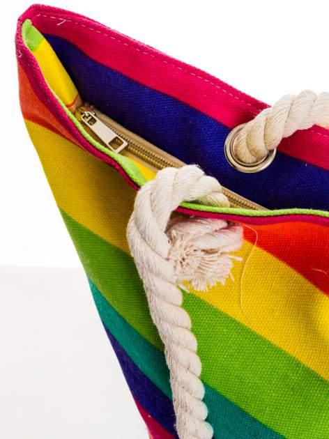 Tęczowa torba plażowa w pasy                                  zdj.                                  6