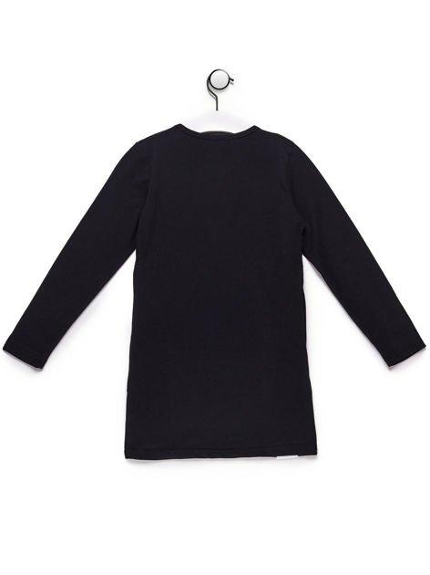 Tunika dla dziewczynki z napisami czarna