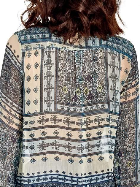 Turkusowa koszula we wzory w stylu etno                                  zdj.                                  8