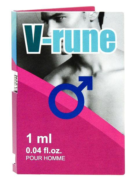 V-rune to preparat z feromonami o ekscytującym, męskim zapachu, stworzony w celu wywołania pożądania i erotycznego podniecenia u kobiet 1ml                              zdj.                              1