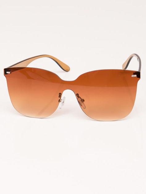 VIP LIFE Okulary przeciwsłoneczne damskie brązowe szkło brązowe                              zdj.                              2