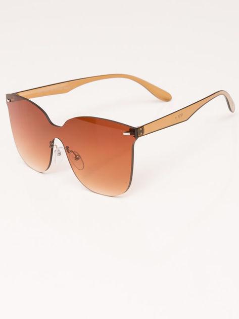 VIP LIFE Okulary przeciwsłoneczne damskie brązowe szkło brązowe                              zdj.                              3