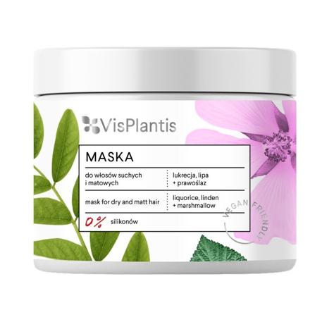 """Vis Plantis Vegan Friendly Maska do włosów suchych i matowych -Lukrecja,Lipa i Prawoślaz  400ml"""""""