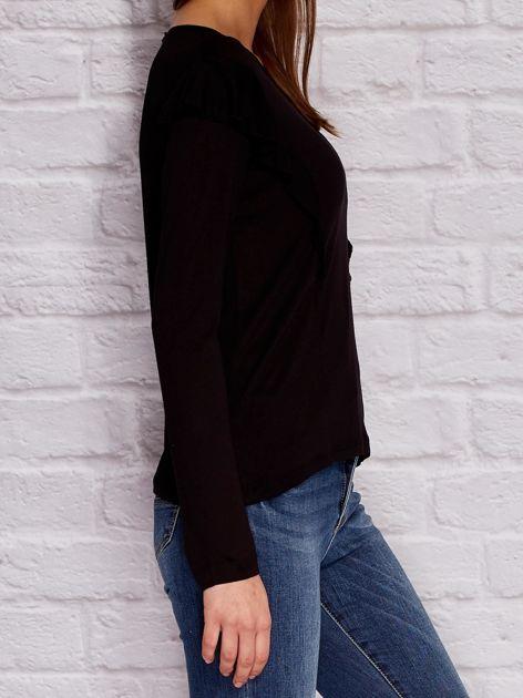 YUPS Czarna bluzka z falbanami                                  zdj.                                  3