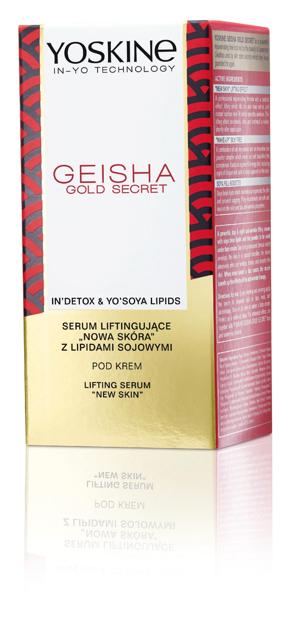 """Yoskine Geisha Gold Secret Serum liftingujące """"Nowa Skóra"""" pod krem  30ml"""""""