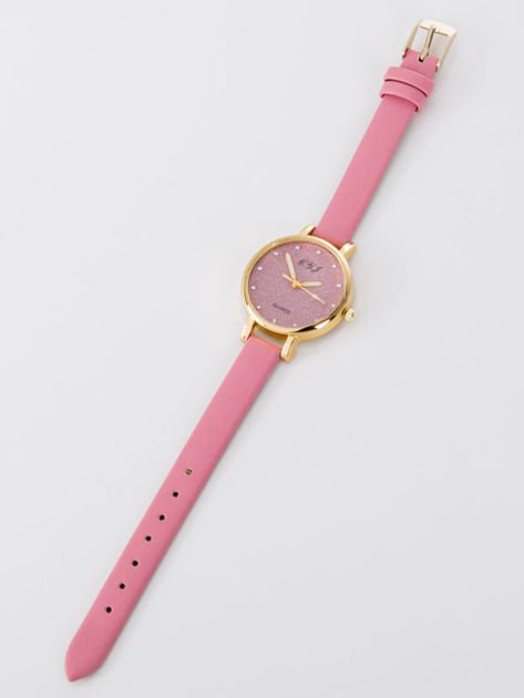 Zegarek damski Zegarek damski glitter różowy                              zdj.                              3