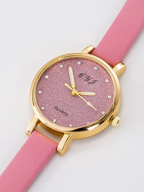 Zegarek damski Zegarek damski glitter różowy                              zdj.                              2