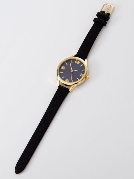 Zegarek damski czarny z perłową tarczą                              zdj.                              3