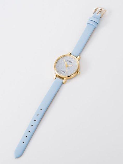 Zegarek damski glitter błękitny                              zdj.                              2