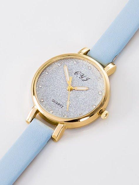 Zegarek damski glitter błękitny                              zdj.                              3