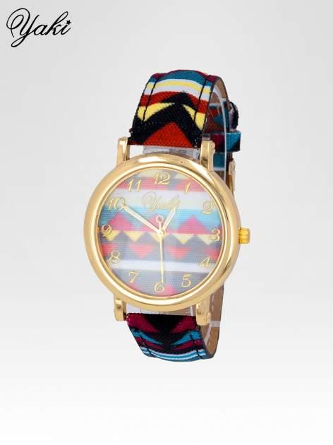 Zegarek damski na pasku z motywem azteckim                                  zdj.                                  2