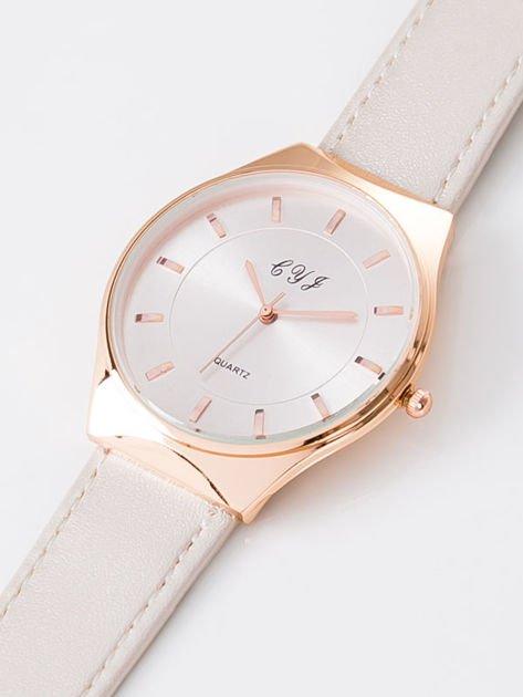 Zegarek damski perłowo-złoty                              zdj.                              2