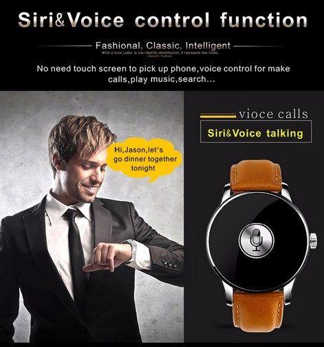 Zegarek smartwatch K88H brązowy Pulsometr Wodoodporny Siri                              zdj.                              7