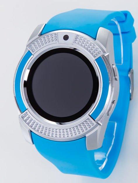 Zegarek smartwatch V8 błękitny Monitor snu, Krokomierz, Telefon                              zdj.                              2