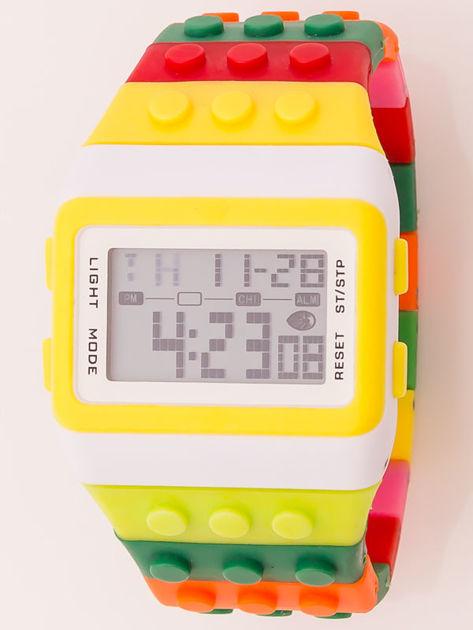 Zegarek unisex z kolorowych klocków Wiele wariantów kolorystycznych                              zdj.                              3