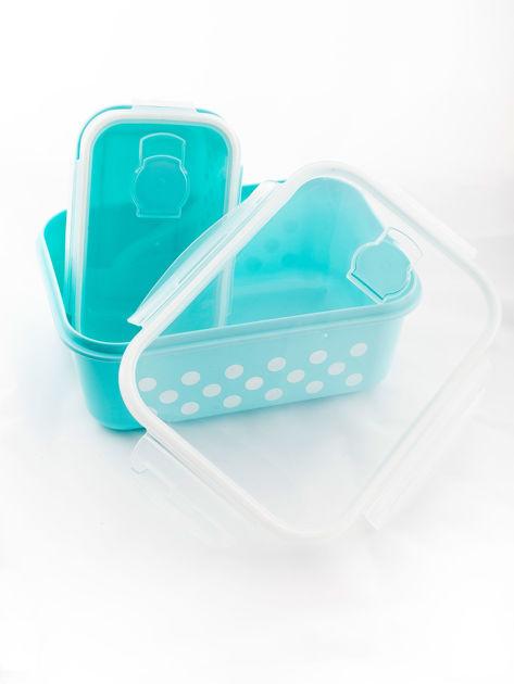 Zestaw jasnoniebieskie pojemniki do żywności 5 elementów                              zdj.                              3