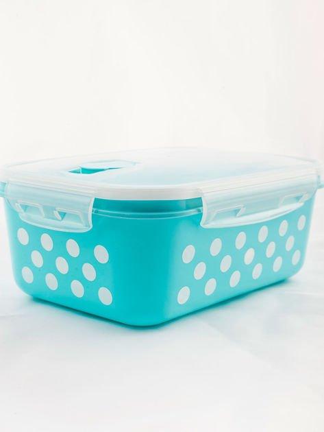 Zestaw jasnoniebieskie pojemniki do żywności 5 elementów                              zdj.                              6