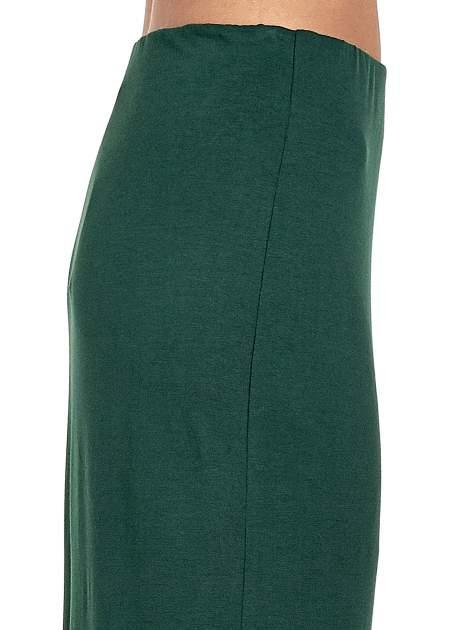 Zielona asymetryczna spódnica maxi z drapowaniem i rozporkiem z boku                                  zdj.                                  6